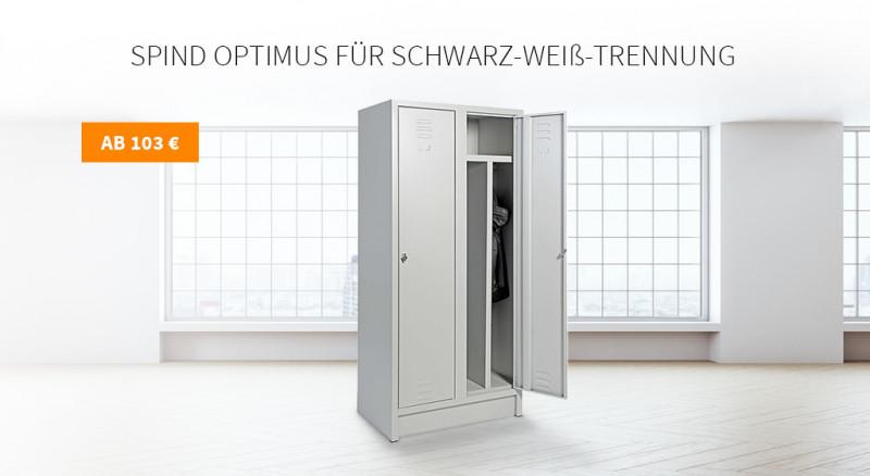 Spind Optimus für Schwarz-Weiß-Trennung