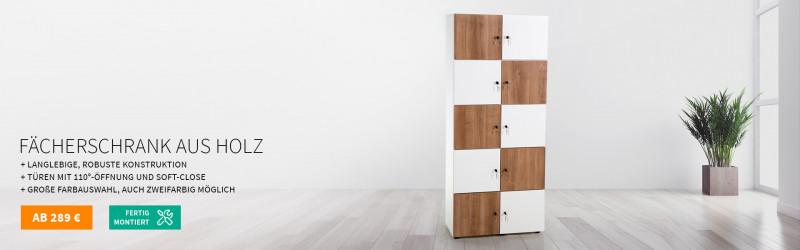 Fächerschrank aus Holz