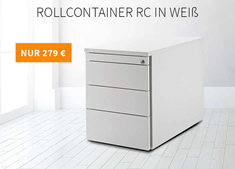 Rollcontainer RC in weiß