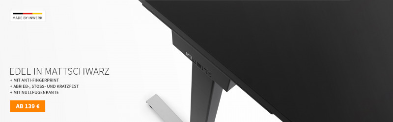 Tischplatte Inwerk Matt Schwarz