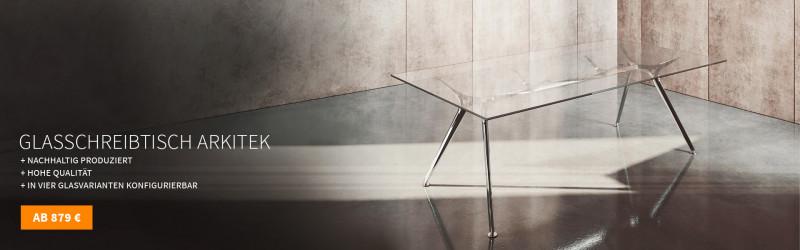 Design Glasschreibtisch Arkitek