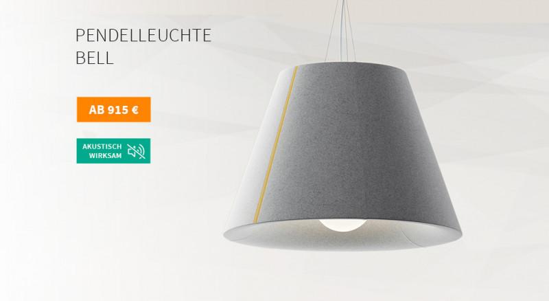 Akustik Pendelleuchte Mute Design Bell