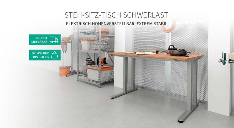 Steh-Sitz-Tisch Schwerlast