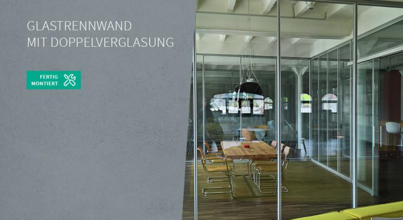 Glastrennwand mit Doppelverglasung