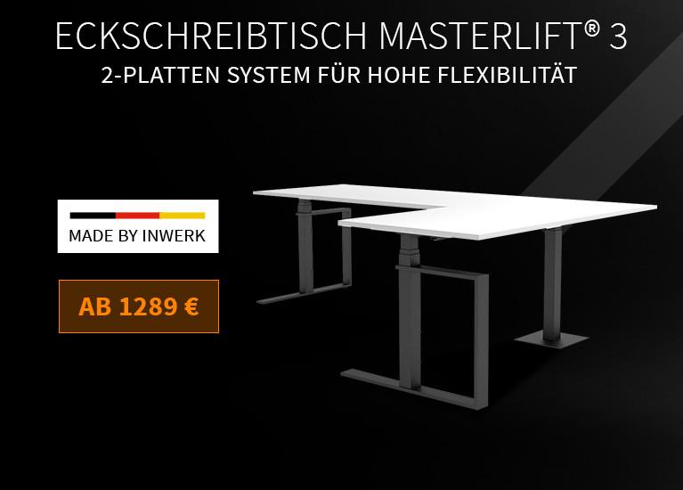 Eckschreibtisch Masterlift® 3