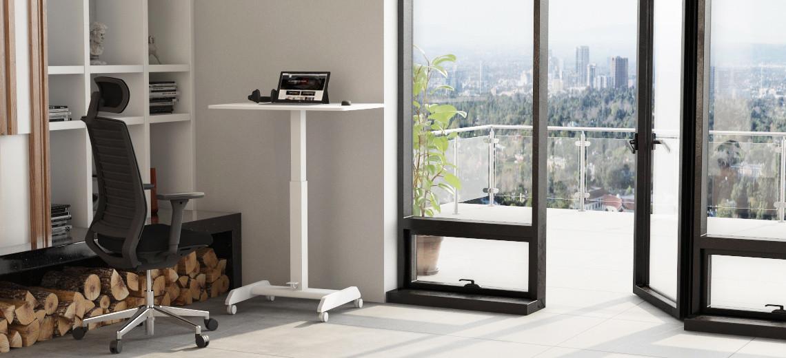 Homeoffice Lösung mit  Steh-Sitz-Tisch Inwerk Workfit®