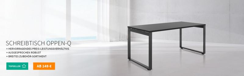 Büro Schreibtisch Oppen-Q mit Kufengestell