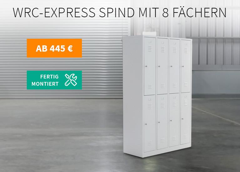 Express-Spind mit 8 Fächern