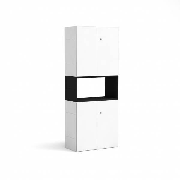 BM78979-WS/masterbox-schrank-5oh-b800-h2000-wei_-schwarz-bm7