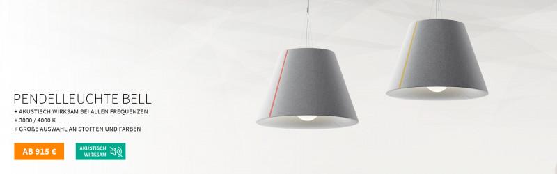 Akustik Pendlleuchte Mute Design Bell
